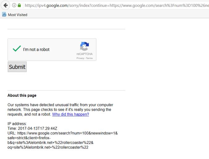 Quand Google te demande de te soumettre si tu n'es pas un robot...