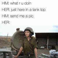 Jeune tankiste israélienne