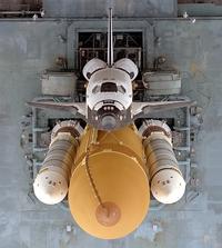 Atlantis, Canaveral'bol d'être cloué au sol, prêt.