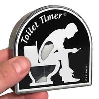 Sablier pour passer moins de temps aux toilettes