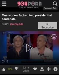 Un travailleur baise 2 candidats présidentiel