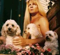 Portrait aux caniches