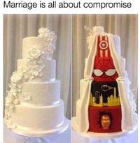 Le côté obscur du gâteau de mariage