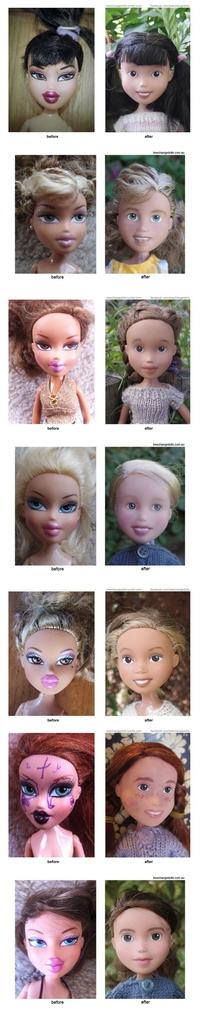 Maquillage : avant/après