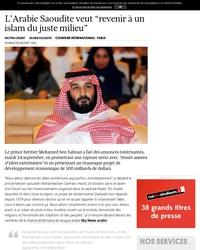 En parlant d'Arabie Saoudite...