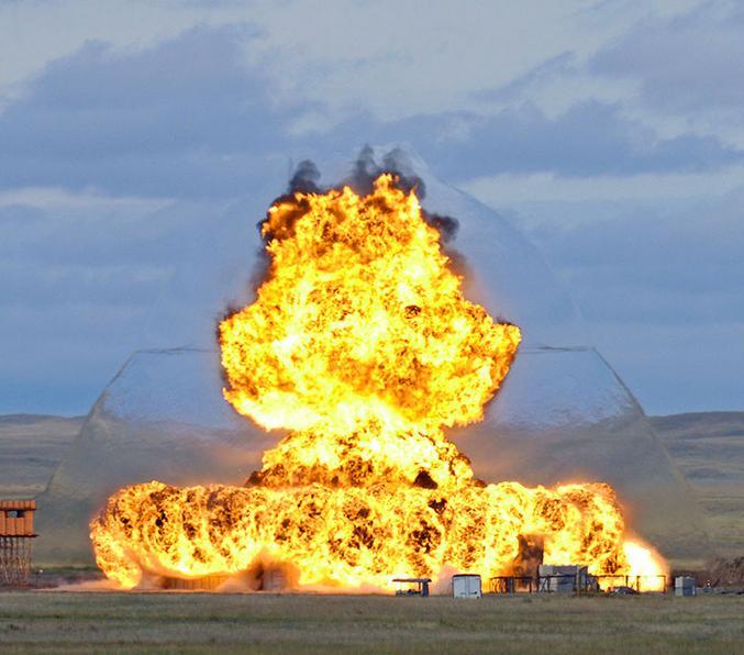 Photo prise par la Defence Research and Development Canada (DRDC), agence qui relève du ministère de la Défense nationale du Canada.