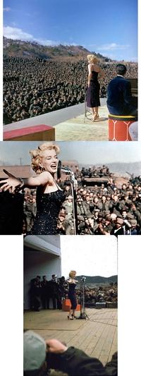 """Février 1954, pour """"remonter"""" le moral des GI, Marilyn Monroe ira en Corée"""