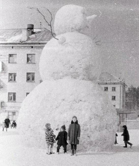 Un grand camarade de neige.