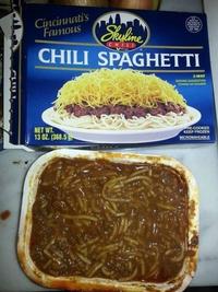 Hmmm. Miam miam. Spaghetti Chili gratiné