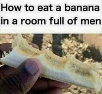 Comment manger une banane