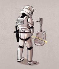 Stormtrooper aux toilettes