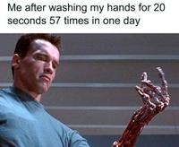 Voilà ce qui arrive si vous vous lavez les mains 57 fois par jour...