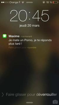 Maxime est occupé