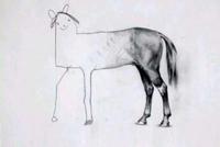 Le papa a commencé le dessin...