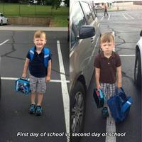 1er vs 2ème jour d'école