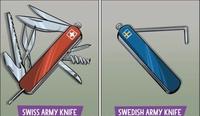 Couteaux des armées suisse et suédoise