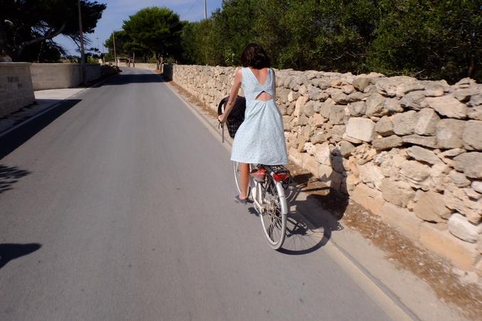 Balade en bicyclette pour se vider la tête