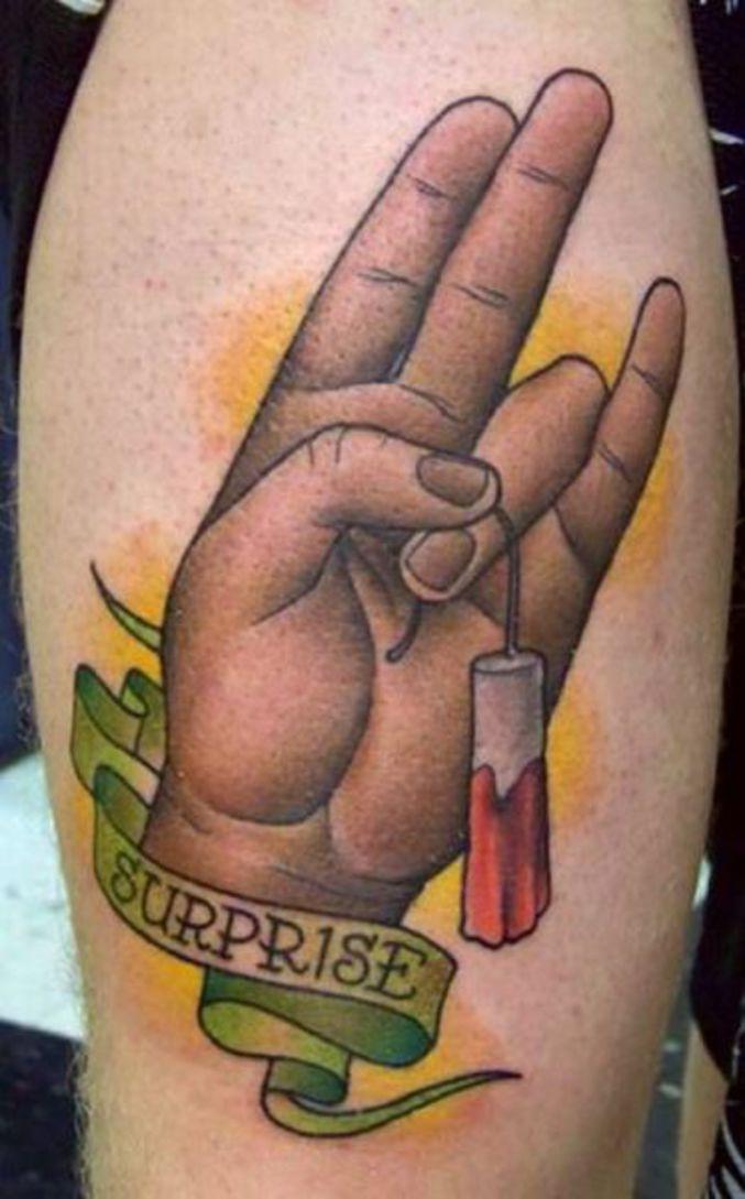 Un tatouage de mauvais goût.