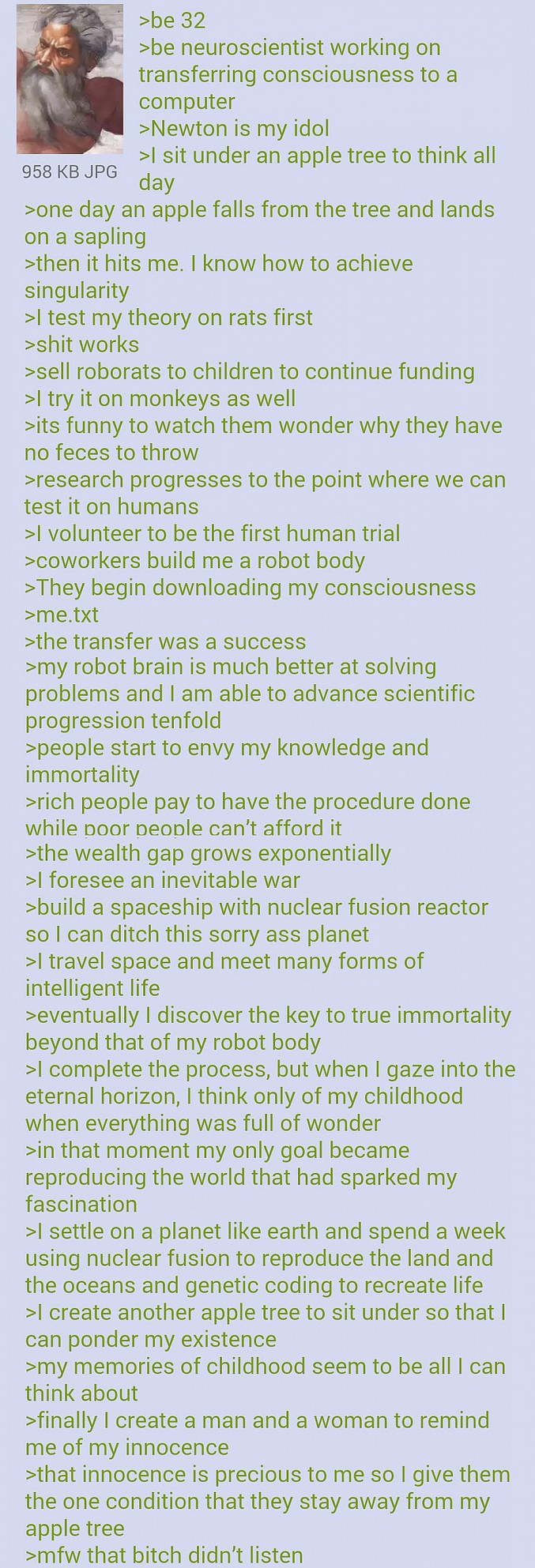 green text de 4chan