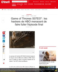 Game of Thrones S07E07 : les hackers de HBO menacent de faire fuiter l'épisode final