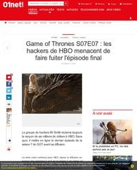 Game of Thrones S07E07 : les hackers de HBO menacent de faire fuiter l'épisode final