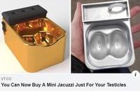Mini-jacuzzi pour testicules