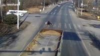 Un chanceux cycliste chinois