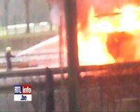 Bus en feu