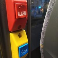 Boutons alarme ou stop en Braille