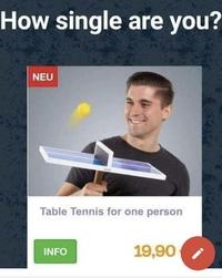 Ping pong de voyage pour solitaire