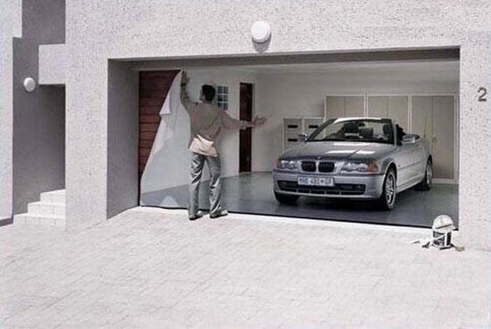 Garage Trompe L Oeil