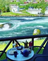Terrasse en norvège