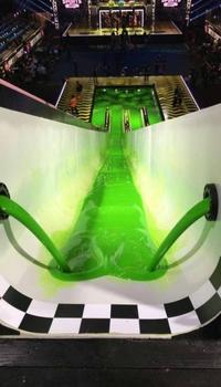 Une pente verte