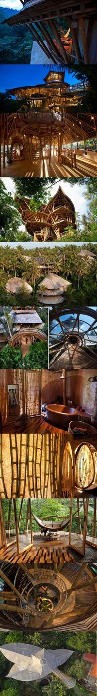 Des maisons en bambou