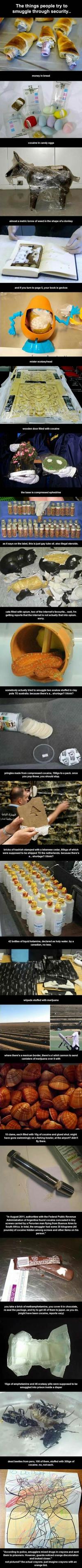 Les gens ne manquent pas d'imagination pour tromper les douaniers