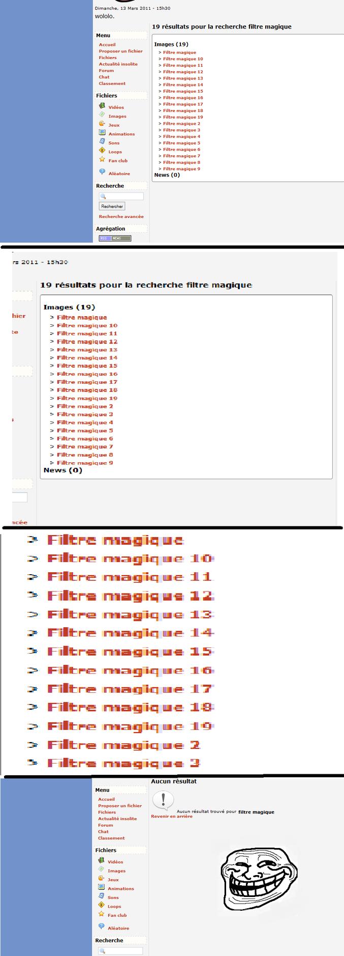 Un filtre spatio-temporel supprimant la série des filtres magiques. Utopie.
