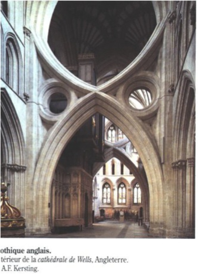Dans la cathédrale de Wells.
