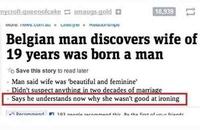 """Après 19 années en couple, un Belge s'aperçoit que son épouse était née """"homme"""""""