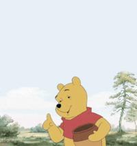 Un ours se mange la patte.