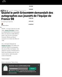 Quand Griezmann, enfant, chassait les autographes des Bleus 98