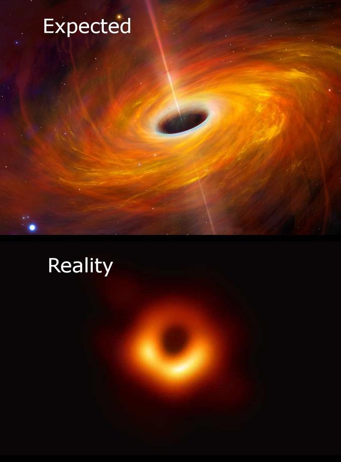 Mon chéri m'a fait remarquer que j'avais pris l'image d'un pulsar et pas d'un trou noir... Certes.