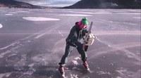 Tronçonneuse sur glace