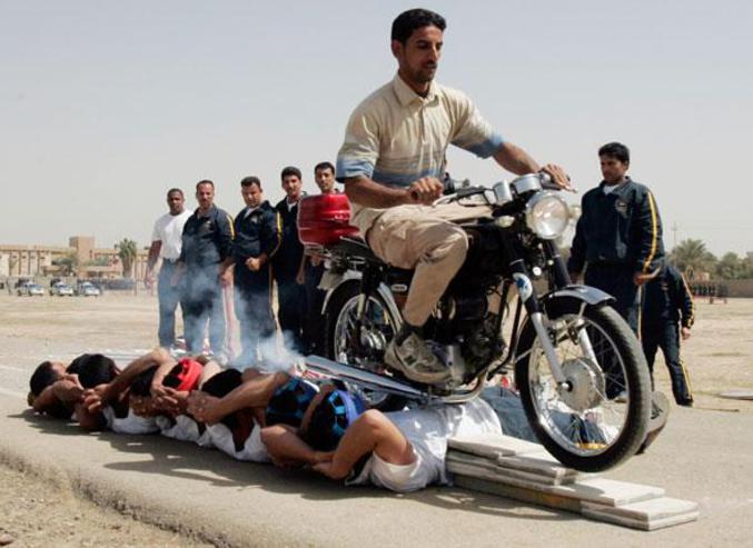 La formation d'officiers de police à Bagdad.