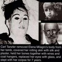 Carl Tanzler a déterré, bricolé façon momie, et vécu 7 ans avec les restes charnels de sa copine