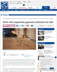 Paris: Des expatriés japonais nettoient la ville