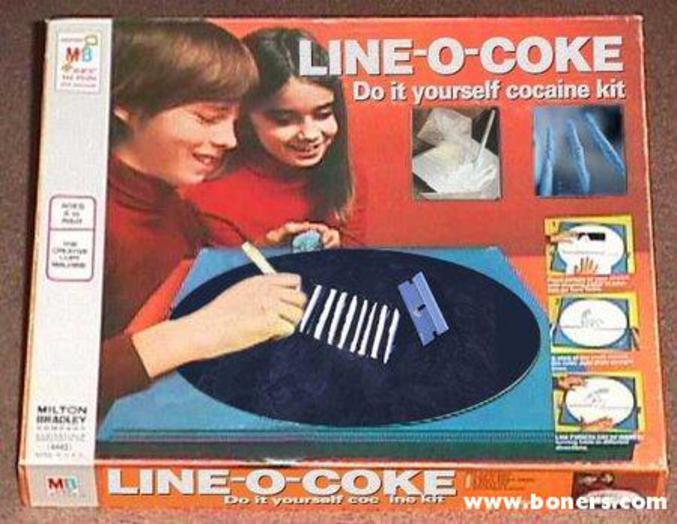 Un moment de fatigue?  Line-o-coke est là pour toi!