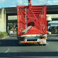 Transport de grue
