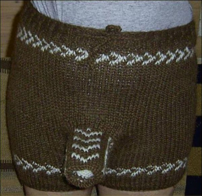 comment tricoter un calecon homme