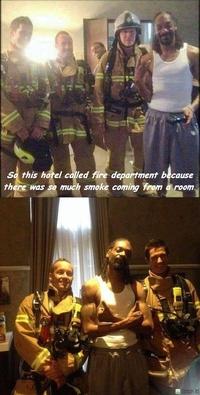 L'hôtel appelle les pompiers
