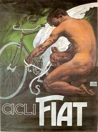 Vieille affiche pour les vélos FIAT...